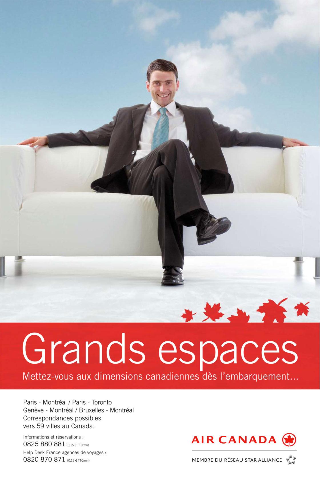 AIR CANADA Annonce Presse Grand Public