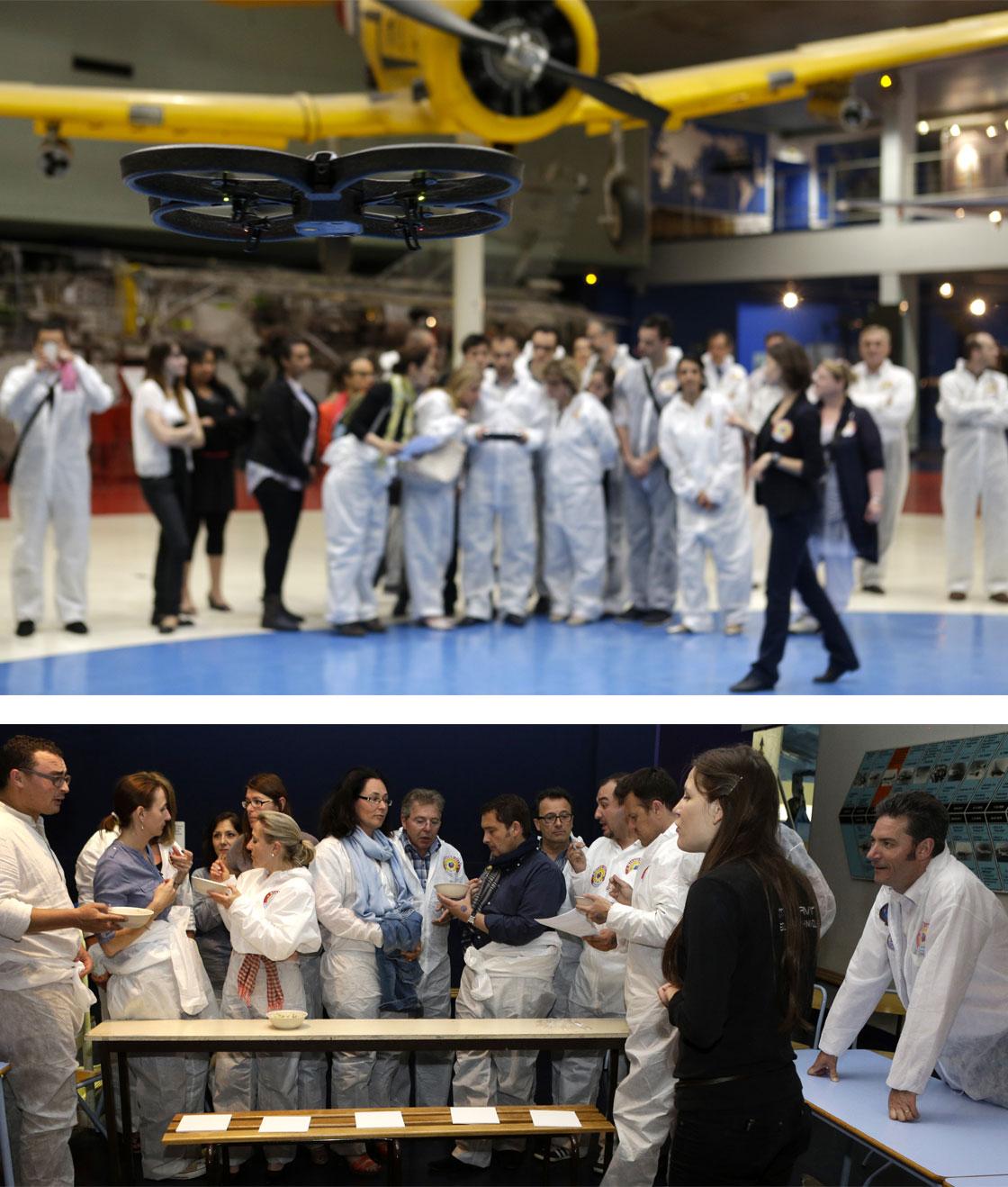CONVENTION COMMERCIALE 2013 Epreuves du Team Building, dans le Musée : pilotage de drones et jeu sur la reconnaissance des saveurs des plats de l'espace