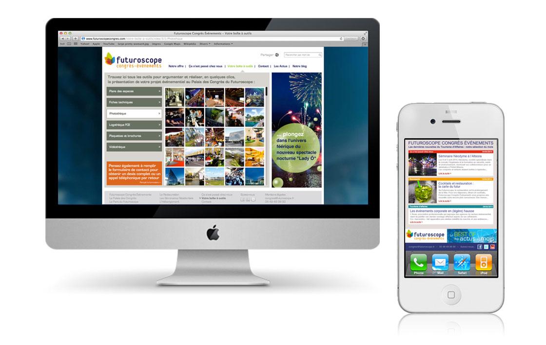 """www.futuroscopecongres.com Site internet complet """"boîte à outils"""", avec mise à jour hebdomadaire des actualités du Palais des Congrès"""