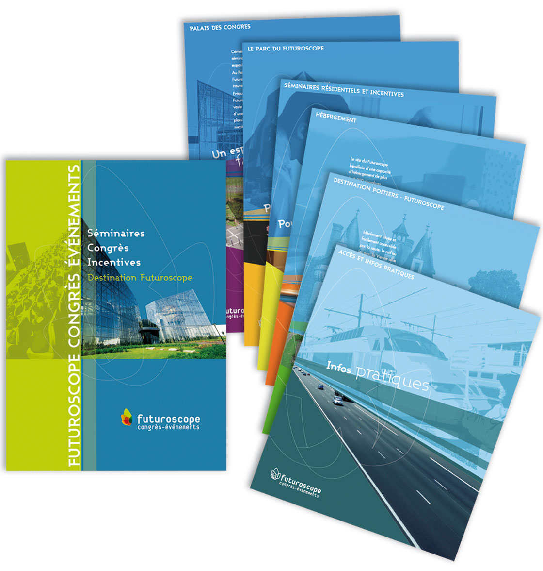 FUTUROSCOPE CONGRES EVENEMENTS Dossier de présentation : chemise à rabat et fiches thématiques