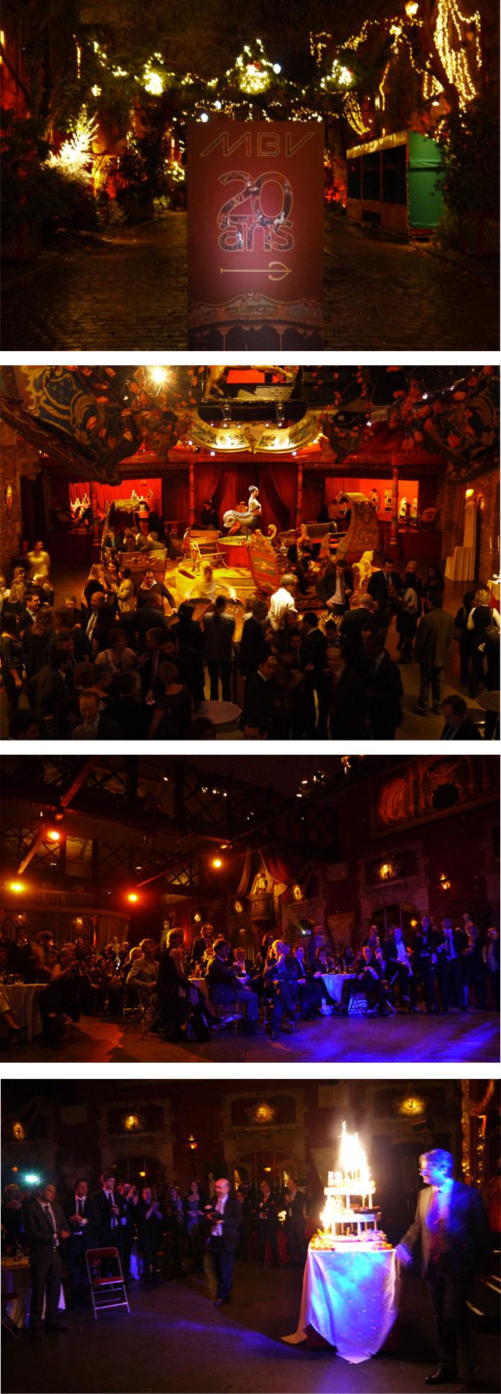 MBV : SOIREE DES 20 ANS Organisation d'une soirée de gala au Musée des Arts Forains